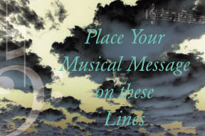 Preview of 4 Lines with Clouds and Musical Symbols