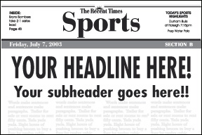 Preview of 3 Lines on the Sports Page