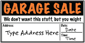 Preview of Garage Sale: Add Your Custom Text