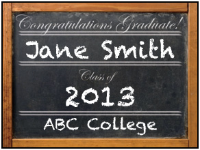 Preview of Chalkboard Congratulations Graduate!