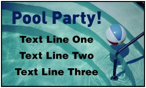 Preview of Customiable Banner: Pool Party