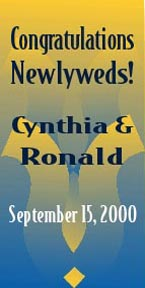 Preview of Newlywed Banner